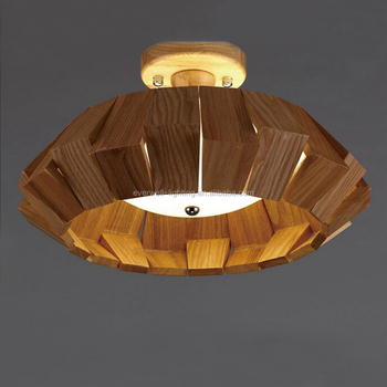 Living Room Wood Round Lamp Home Decorative Led Ceiling Light Buy