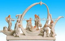 2012 Christmas Joy resin nativity figurine with angel and three Kings