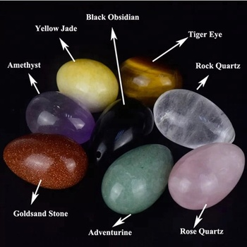 Natural polished crystal yoni egg for massage and crystal healing