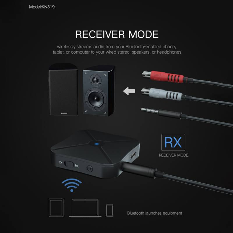 2 IN 1  Bluetooth Transmitter Receiver Mini 3.5mm Wireless Adapter Bluetooth 4.2 Stereo Audio Dongle For TV Car /Home Speakers