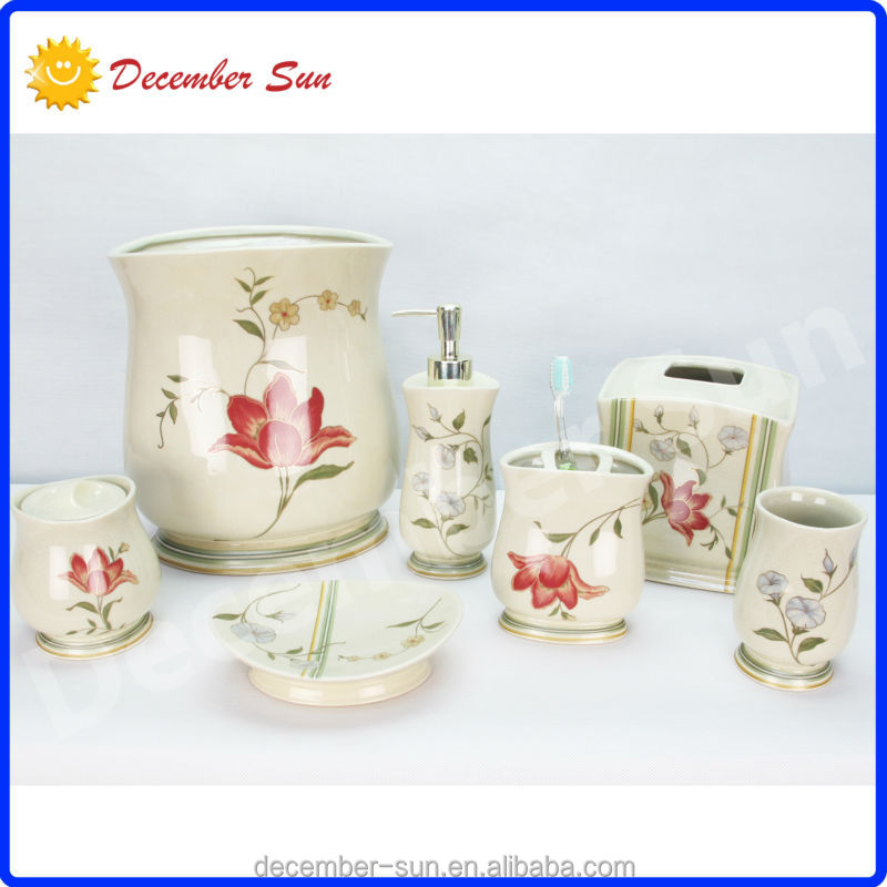 home and garden porcelain decoration products bathroom accessory sets