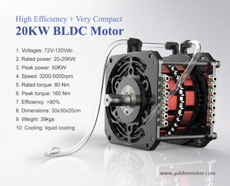 Motor Bldc 20kw Coche El 233 Ctrico Kit De Conversi 243 N De 72 V