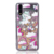 Cartoon Herten Moving Glitter Liquid Telefoon Case Cover Voor Iphone 6 7 8 X Plus