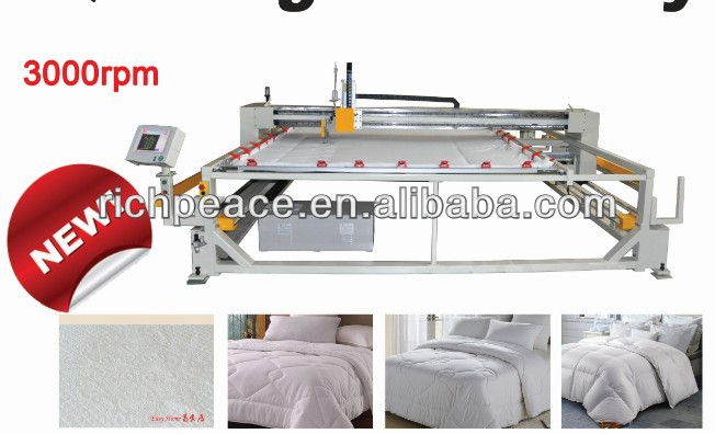Richpeace Computerized Single Head Quilting Machine for Mattress 2.5m*2.6m