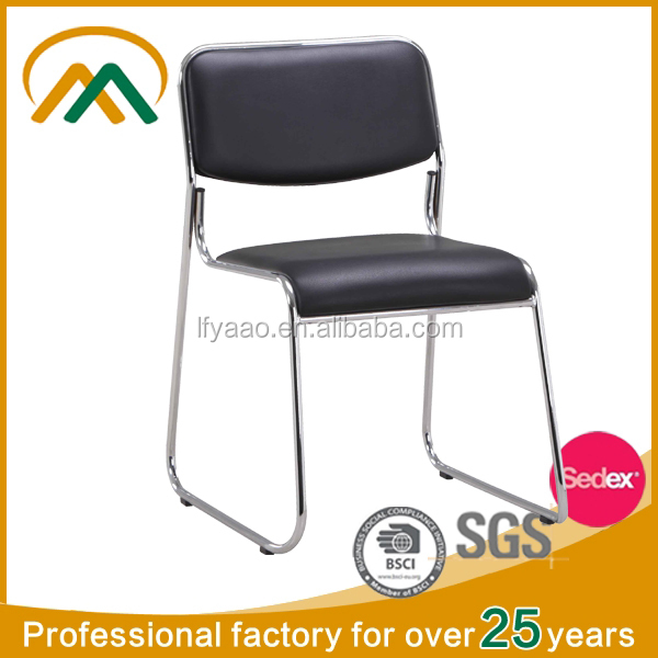 Wholesale Factory Price Stackable black office chair LF-KC7650