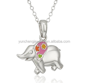 Elephant Handmade Children Pendant 925 Sterling Silver Jewelry