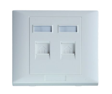 rj45 socket wall face plate for cat5e/cat6