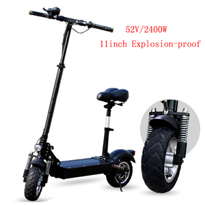 2018 Cheap foldable 52V 2400W 11inch electric scooter for adult