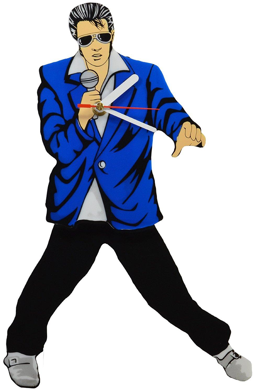 Different Styles Elvis Presley Swinging Legs Pendulum Wall Clock Great Gift Rock Pop Artists