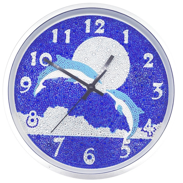 clock <strong>picture</strong> Diy diamond painting by numbers 2.5mm round diamond New006
