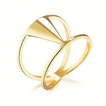 2018 New Hot Selling Fashion Women Stainless Steel Latest Gold Ring