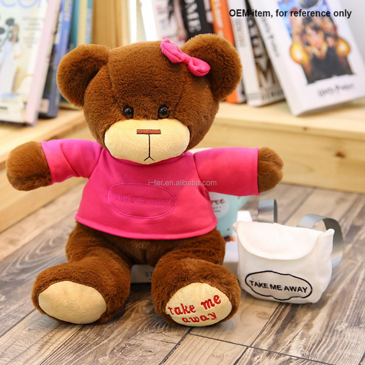 0d6005b9ad8 Oem China Factory Stuff T Shirt Teddy Bear Plush Kids Toys - Buy ...