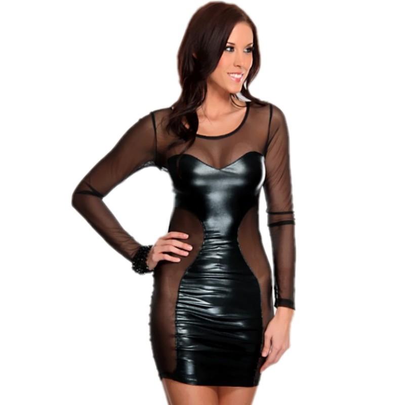 183adc2ad2c Buy Skyey J Sexy Club Wear Metallic Shiny Hot Party Dress One Piece ...