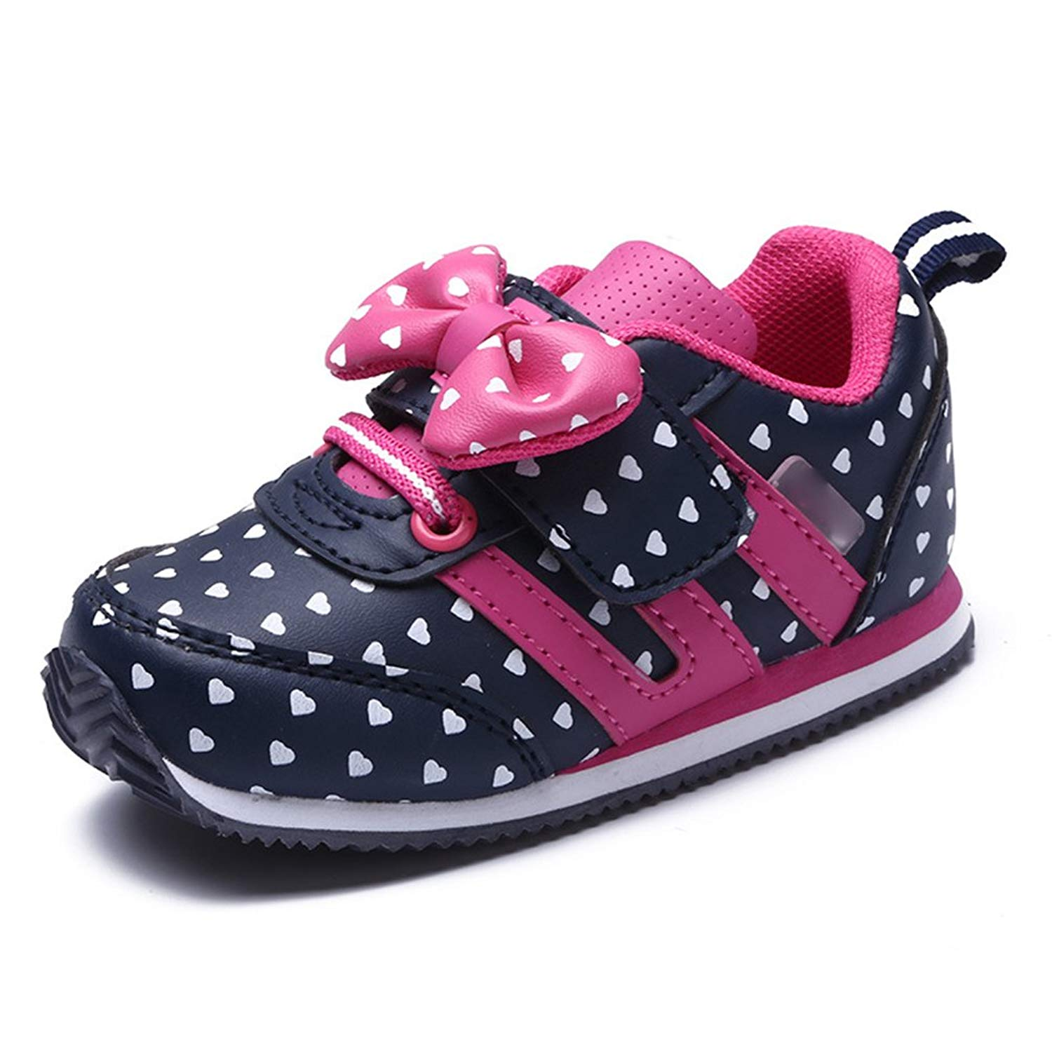 5be89fef45cf Little Girls Shoes Bowknot Butterfly Tie Baby Toddler Shoes Casual  Breathable Velcro Princess Sneakers Cotton Shoes