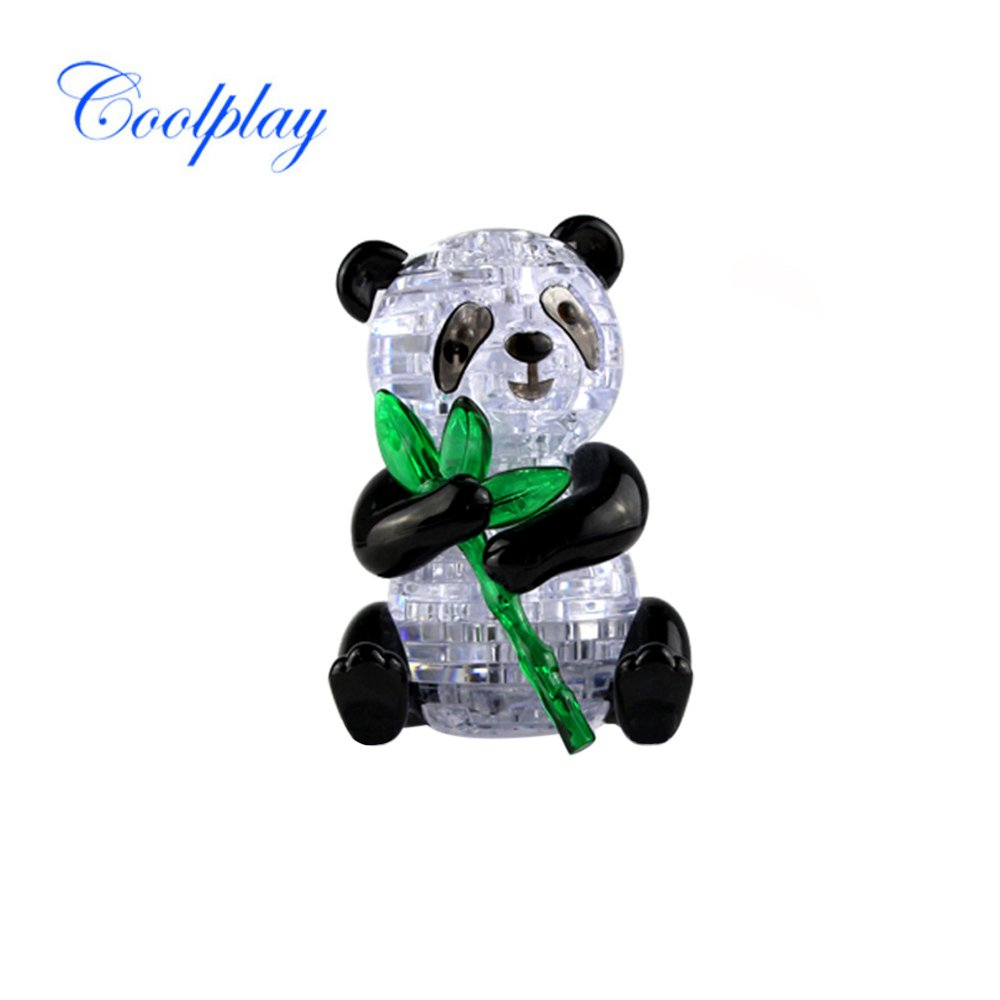 Goolsky Coolplay 3D Crystal Puzzle Panda Model Cute DIY Building Toy Gift Gadget Crystal Blocks