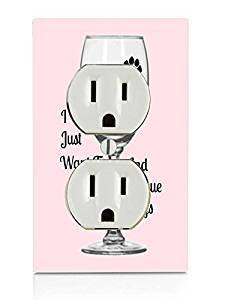 Drink Wine and Rescue Dogs Print Electrical Outlet Plate