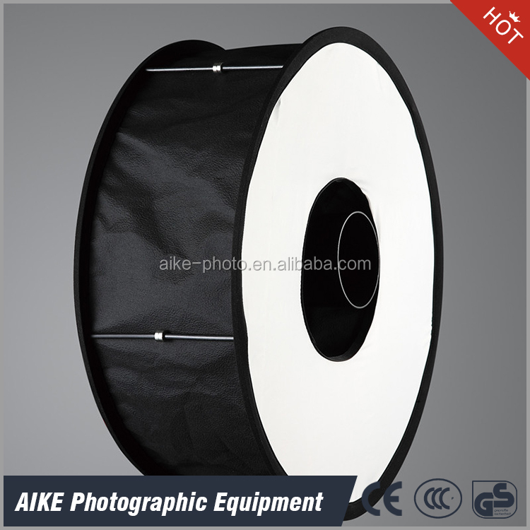 "Round Universal Collapsible Magnetic Ring Flash Diffuser Soft Box 45cm/18"" for Macro and Portrait Photography"