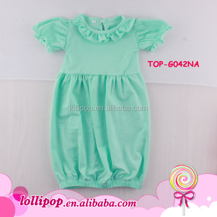Monogram Blank Bright Candy Color Girls Bubble Gown Newest Style ...