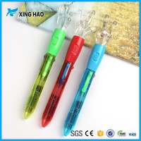 Hot sale Promotional cheap plastic cute gesture pen 4 color ballpoint pen transparent plastic pen