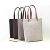 2019 Charming Luggage Jute Linen Burlap Tote Beach Bag With Leather Handle