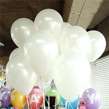 10pcs lot 10inch White Latex Balloon Air Balls Inflatable Wedding Party Decoration Birthday font b Kid