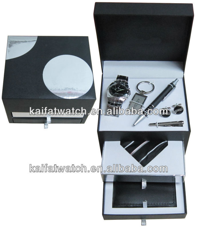 fashional and popular watch set new year gift set/2014 year new arrival watch gift set/watch set manufacturer&suppllier