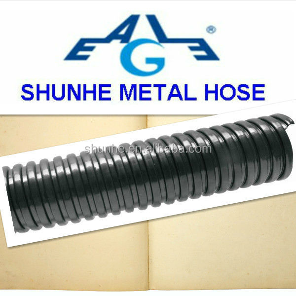 black Galvanized Flexible Steel wire Conduit with PVC Coated/JSH type