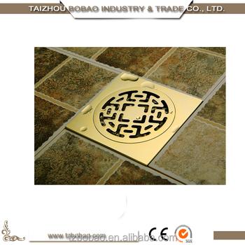 antique brass floor drain gold shower drain outdoor drain cover gold plated drain cover china old