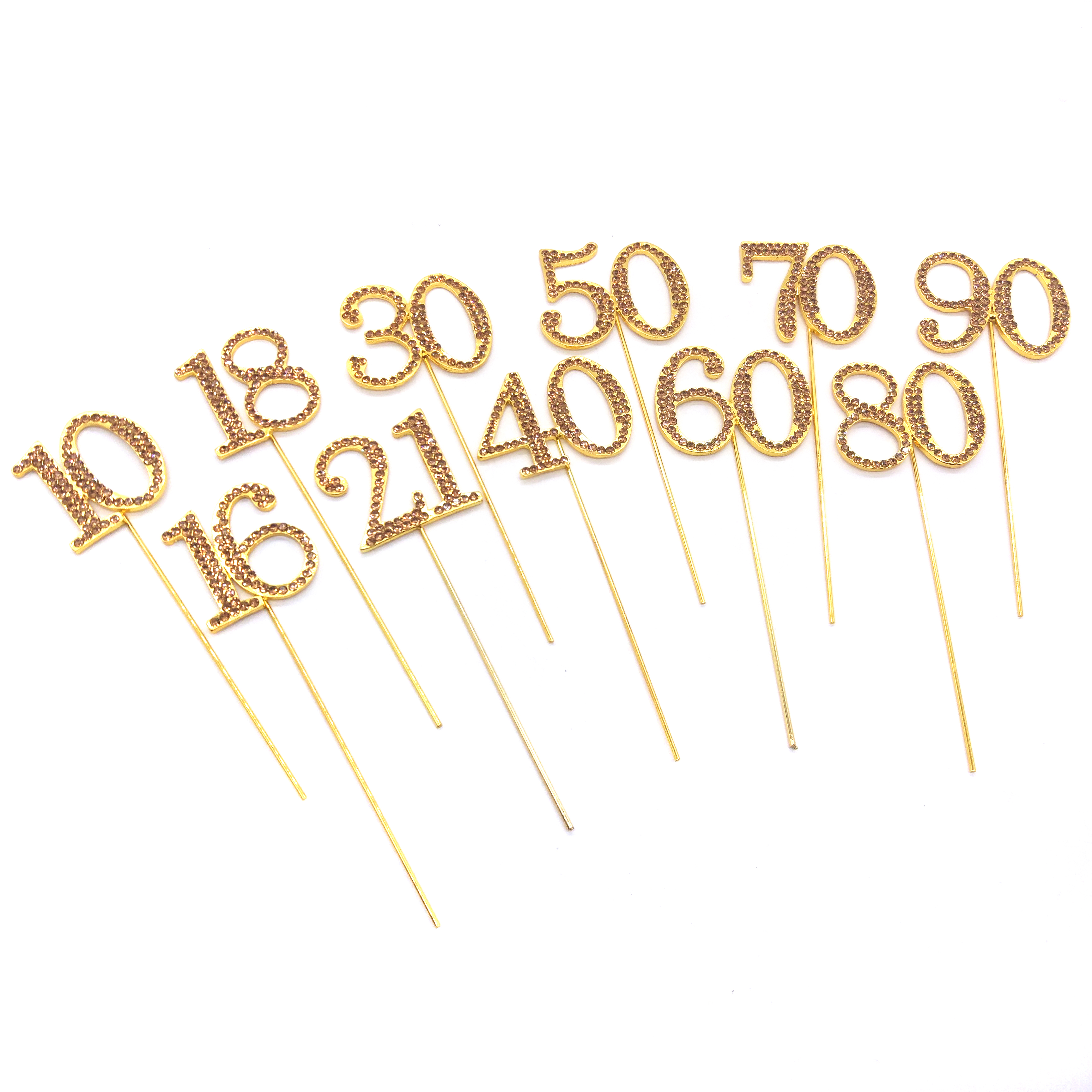 0-100 Rhinestone GOLD Table Number for Wedding, Birthday, or any Special Events