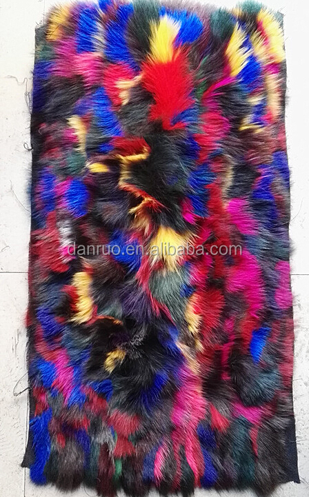 Blue fox multy color fur plate new fashion hot sale/ blue fox multy color fur plate-1