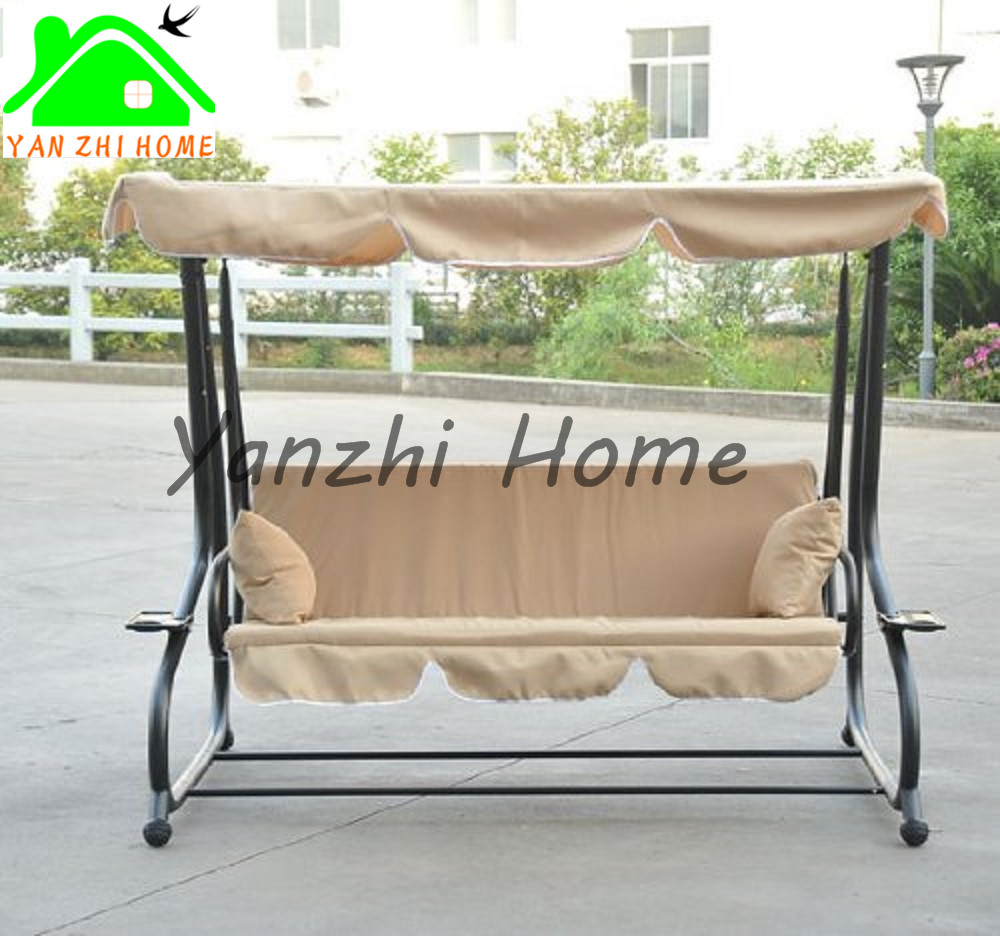3 Person Loveseat Glider Bench Chair Patio Porch Swing with Rocker/swing chair