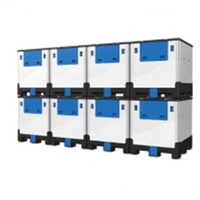 1000L Opvouwbare plastic IBC <span class=keywords><strong>tank</strong></span> tote container voor chemische vloeistof opslag transport