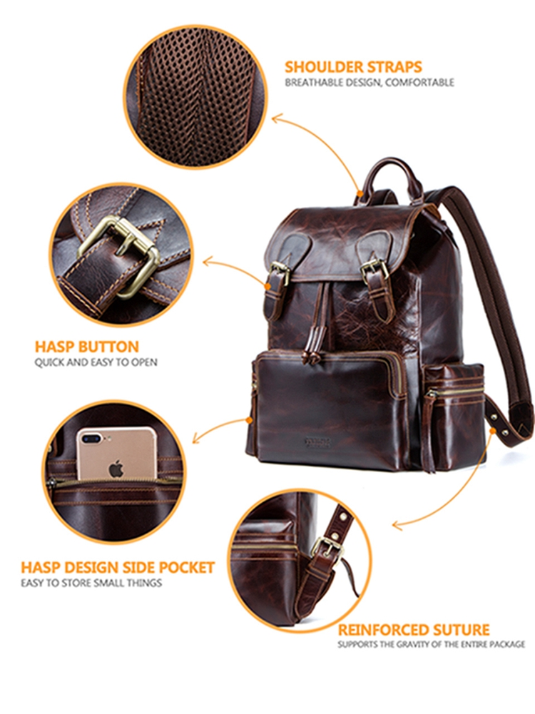 Contact's backpack_back pack leather backpack bag