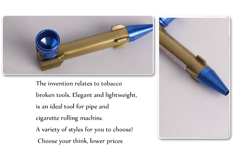 Yiwu Erliao Novelty Missile Shape Metal Pipe Tobacco Smoking pipe