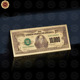 Wr Promotional Gift Gold Foil US Bank Notes Collectible 10 Thousand Dollar Paper Money