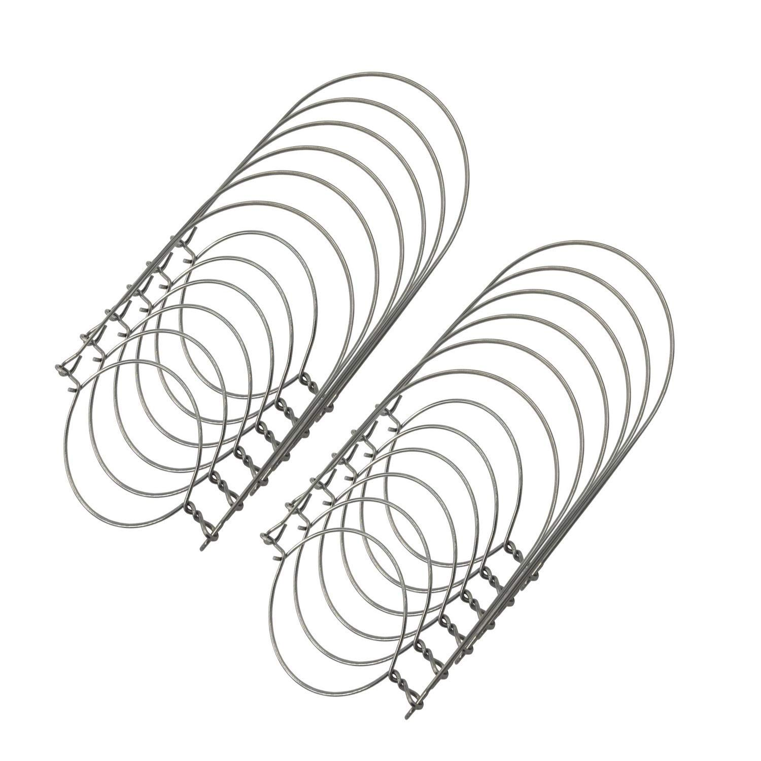 THINKCHANCES 12pcs Silver Rustproof Stainless Steel Wire Handles (Handle-Ease) for Mason Jar, Ball Pint Jar, Canning Jars, Mason Jar Hangers and Hooks, Set of 12 (For Wide Mouth Mason Jars, Silver)