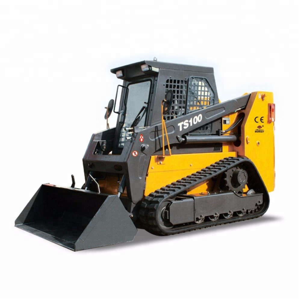 rubber track crawler skid steer loaders 1200kg 0.55cbm bucket with kinds attachments CE TS100