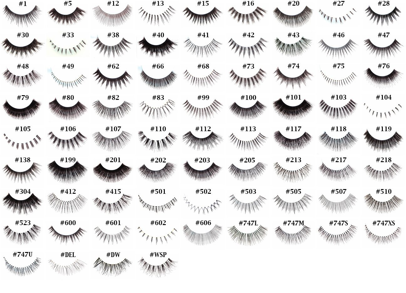 "20 Pairs of Red Cherry 100% Human Hair False Eyelashes ""Pick Your Choice of any 20 Pairs"" - Mighty Gadget"