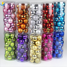 Wholesale Fashion Printed Custom Shiny Cheap Price Beautiful Hotel and Market Round Sahpe Christmas Decoration Ball