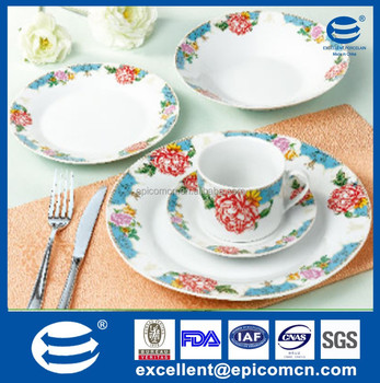 2015 New Product 30pcs Italian Fine Porcelain Dinnerware Set With
