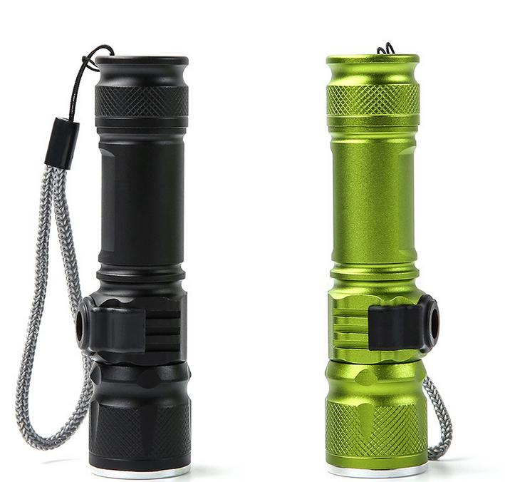 Enfoque acercamiento lintera de luz 3 modos ajustable Mini USB linterna LED recargable de emergencia y las actividades de EDC
