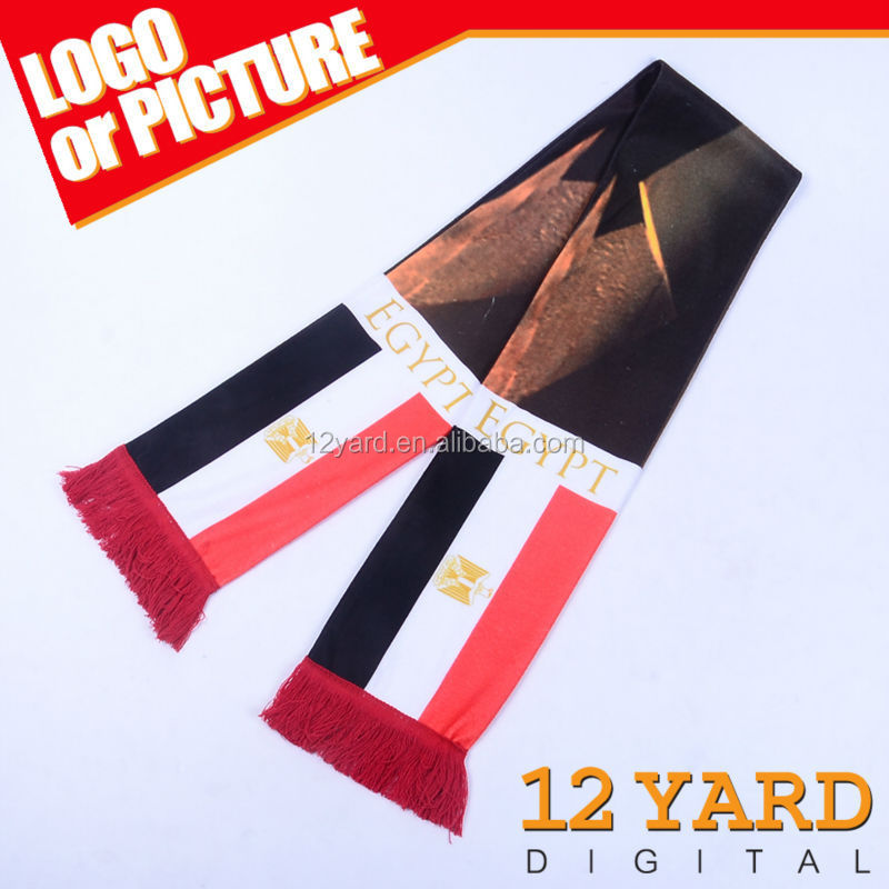 Egyptian Football Association fans scarf with printing Egypt landscape shawl for cheering events scarf