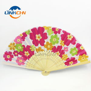 customise made bamboo hand fan ribs foldable hand fan for gift