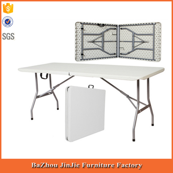 Beau 5ft Plastic Folding Portable Table With Carry Handles