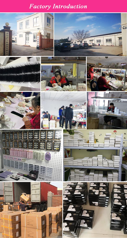 Qingdao usine de cils en gros 100% vrais cils de vison 3d