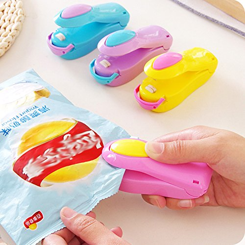 Portable Mini Hand Pressure Heat Sealing Machine, XSLEGO Impulse Sealer Seal Packing Plastic Bag Kit for Food Saver (Random Color)