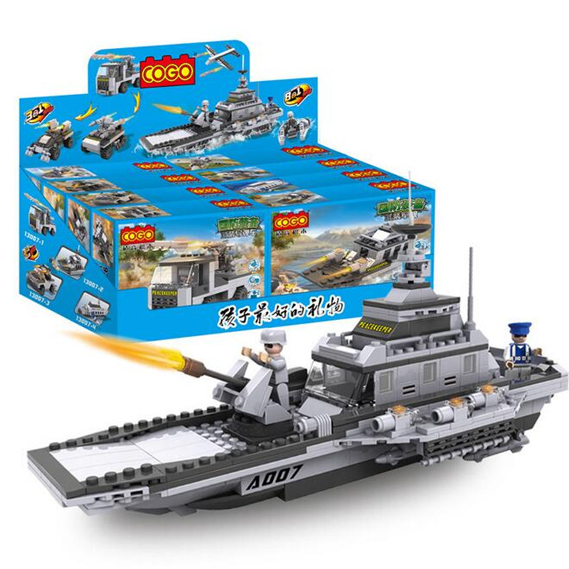 Military serise Aircraft Helicopter Tank Warship Chariots Fighting Vehicle Car Building Blocks Toys for boys gift 13007