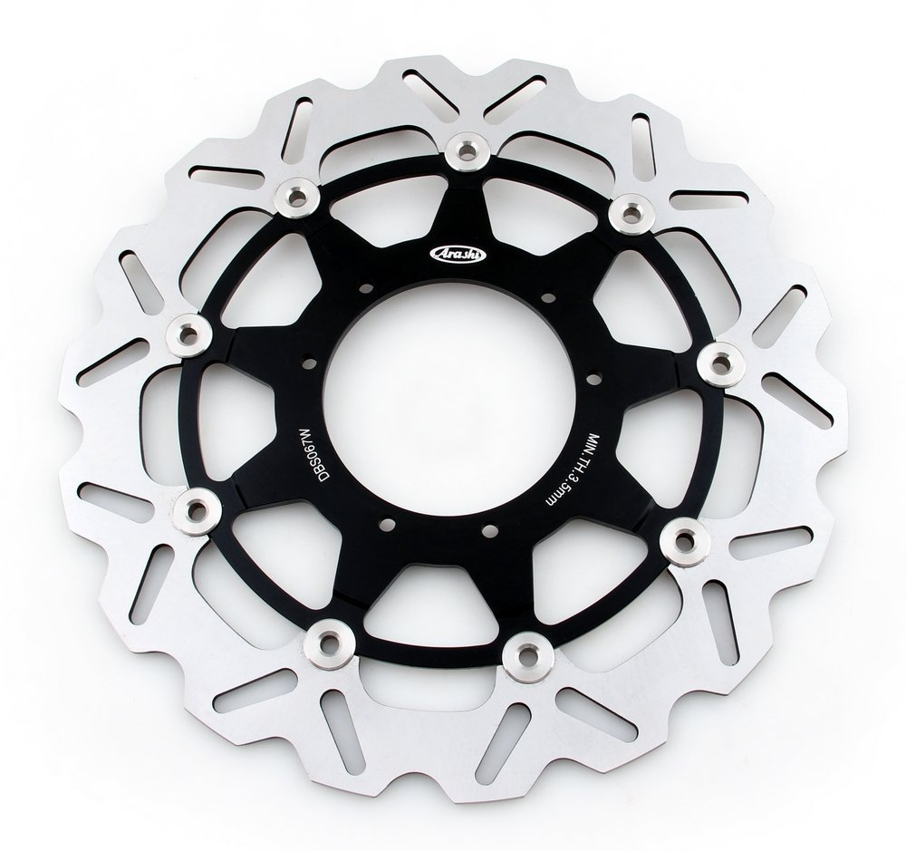 Areyourshop Front Brake Disc Rotor For Honda CR R CR E 125 250 500 CRF R CRF X 250 450 Black