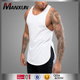 Custom 100 Cotton White T Shirt Muscle Tank Top Y Back Tops For Men
