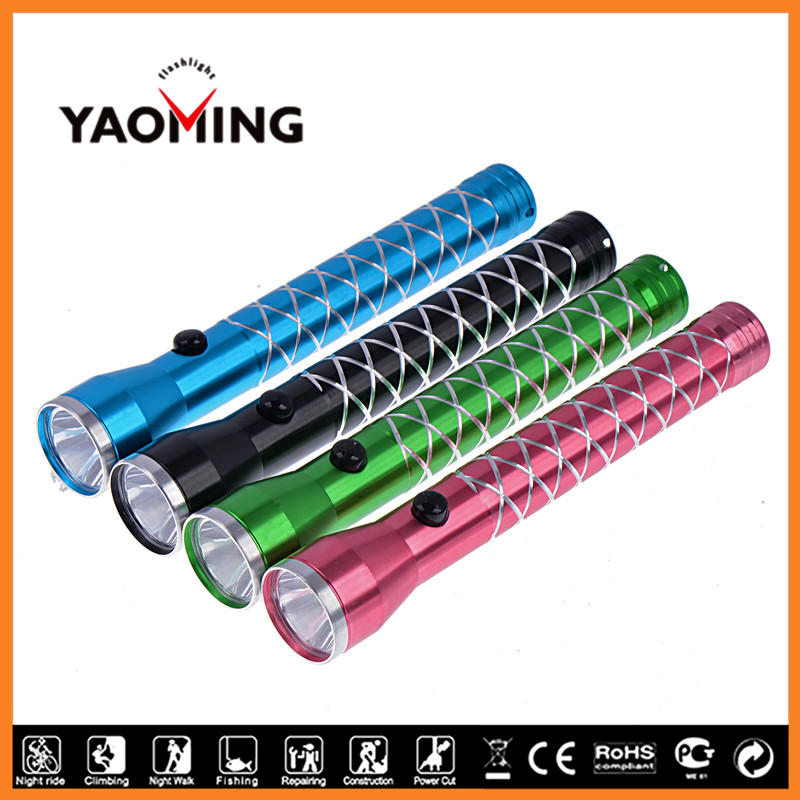 AA Batery Type Pocket Flashlight Deep Reflect Cup High Beam EDC Torch YM-8869 for Housing